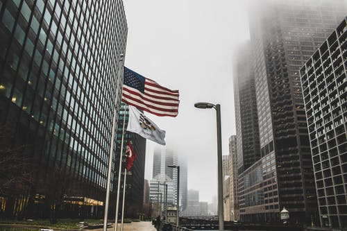 Photo of High Rise Buildings on a Foggy Day