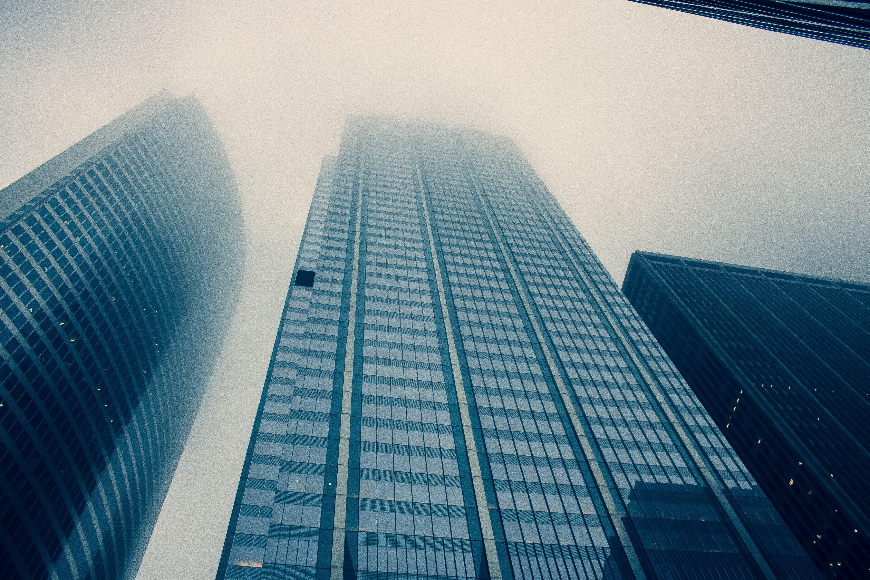 低角度拍攝, 光, 反射, 城市 的 免费素材照片