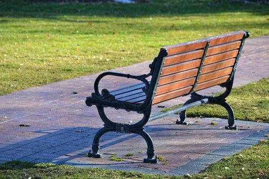 Black and Brown Wooden Bench Photo