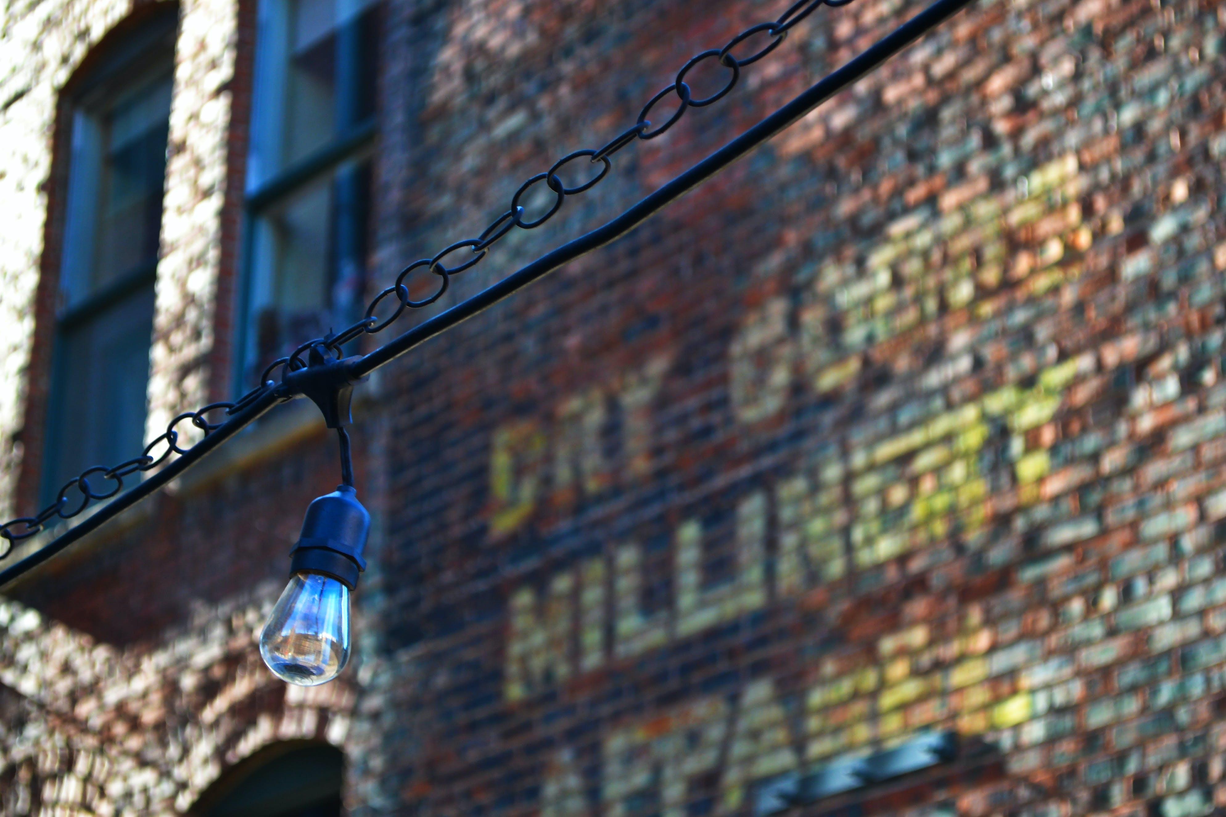 คลังภาพถ่ายฟรี ของ กำแพงอิฐ, ตอนกลางวัน, ผนัง, ลวด