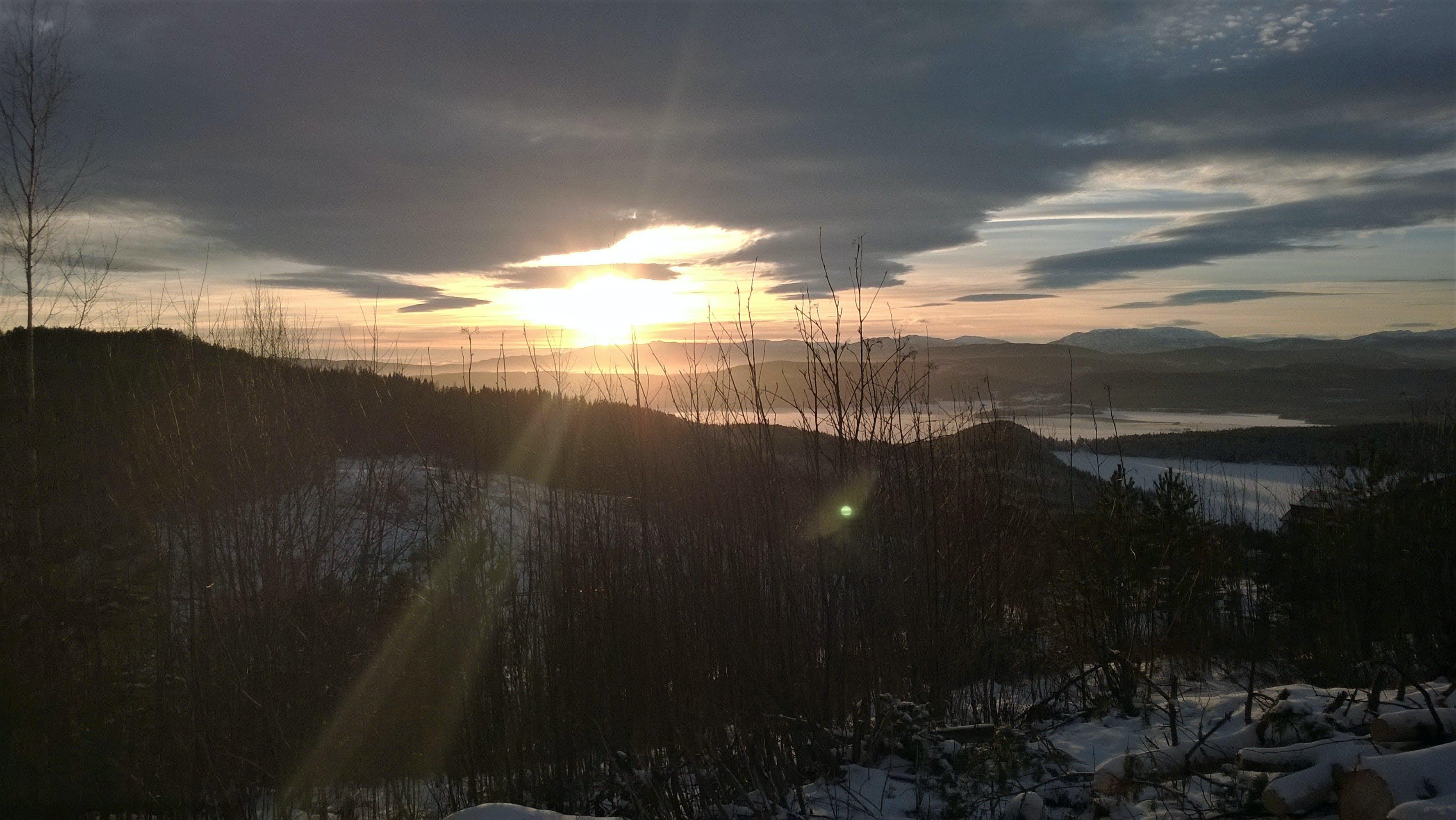 노르웨이, 일몰의 무료 스톡 사진