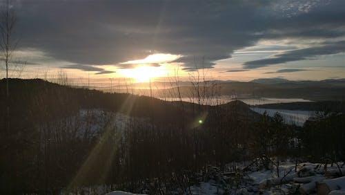 gün batımı, Norveç içeren Ücretsiz stok fotoğraf