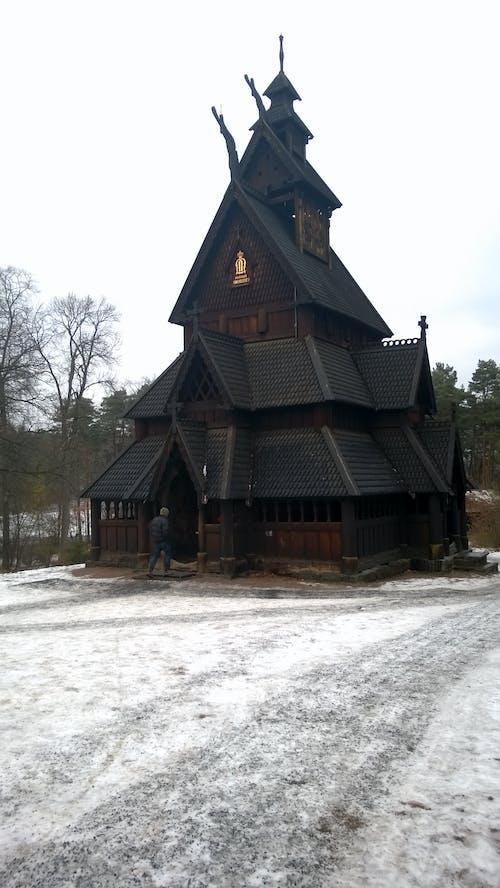 çıta kilisesi, Norveç, oslo, stavkirke içeren Ücretsiz stok fotoğraf