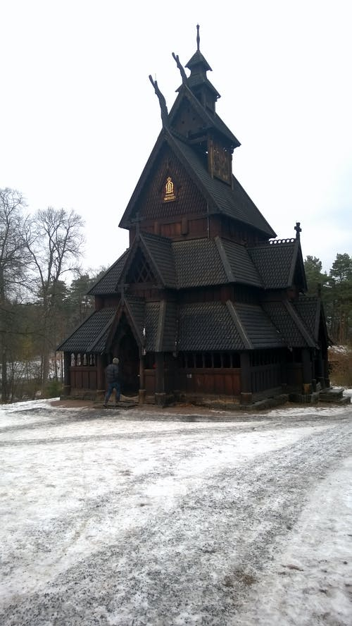 Photos gratuites de église en bois, norvège, oslo, stavkirke