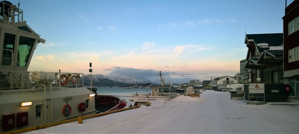 fiorde, Mar do Norte, norte da noruega