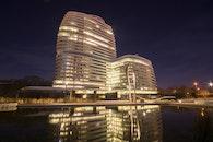 lights, night, hotel