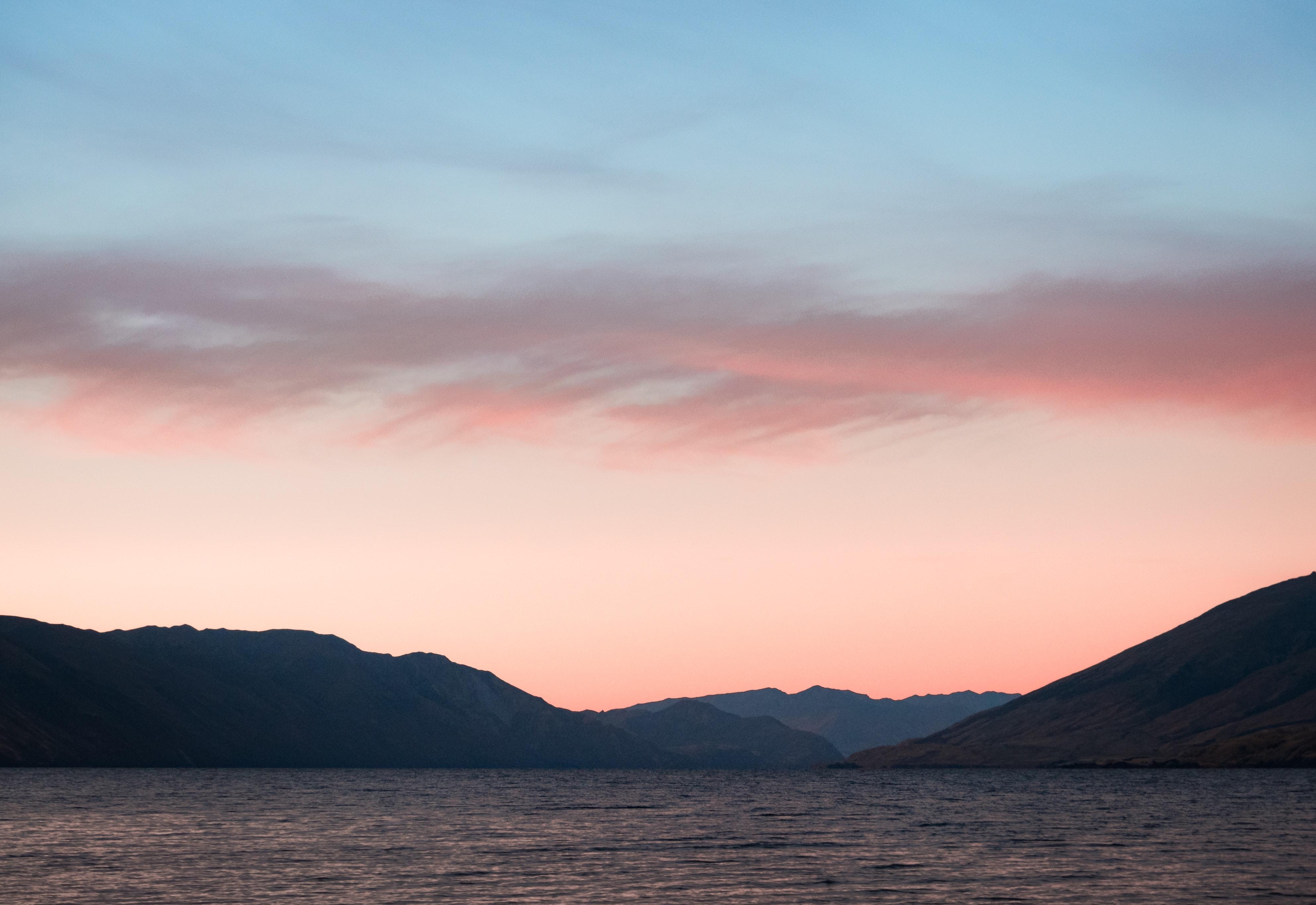 Sky Wallpapers: Orange Blue Cloudy Sky · Free Stock Photo