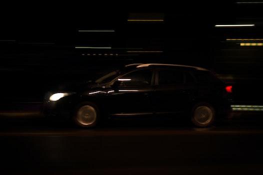 Free stock photo of lights, night, street, car