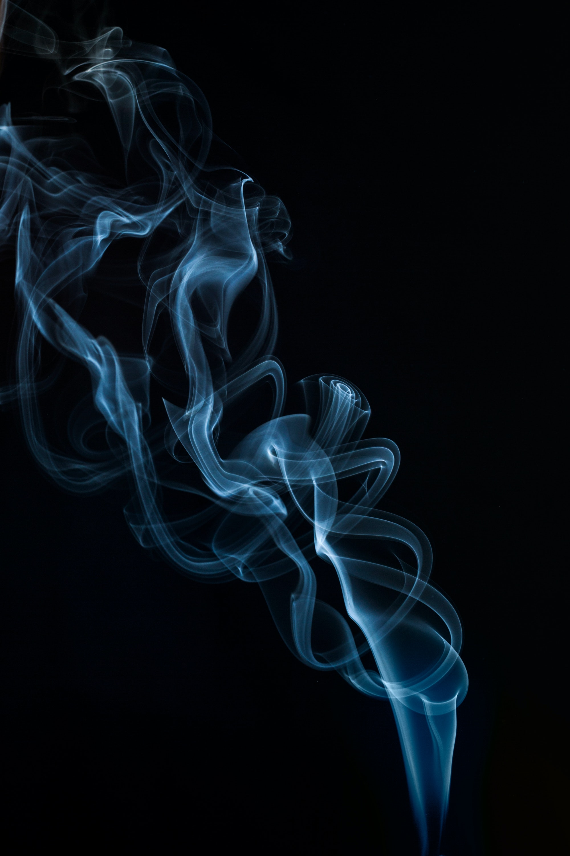 Blue Smoke Wallpaper Free Stock Photo