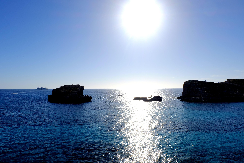 Free stock photo of sea, landscape, blue, sun