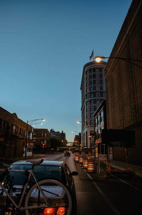 Free stock photo of bike lane, buildings, city