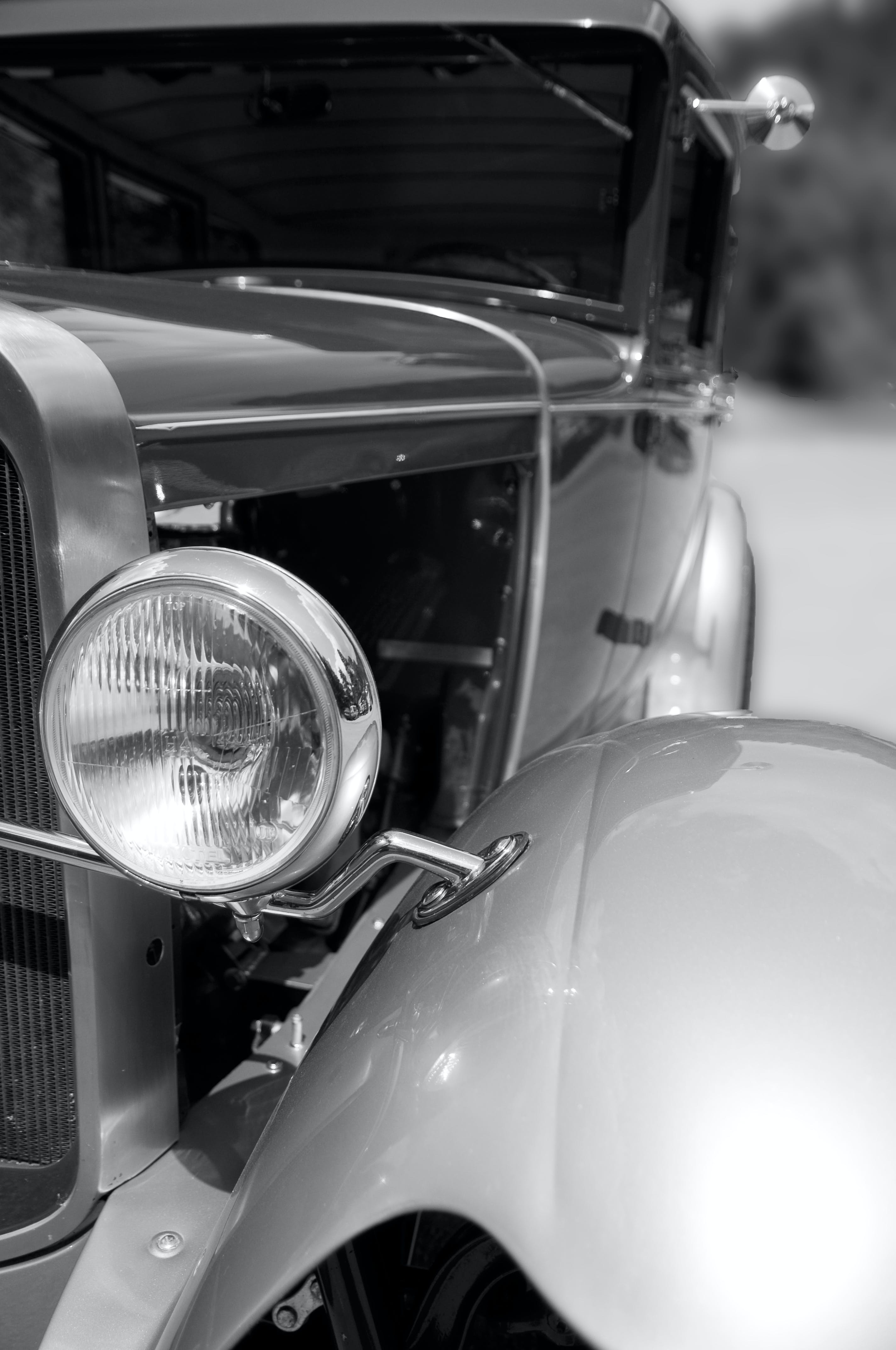 Close Up Photo of Classic Vehicle