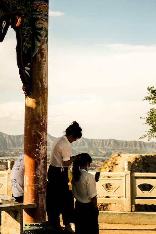 Ingyenes stockfotó gyönyörű táj, kínai építészet, kínai lányok témában