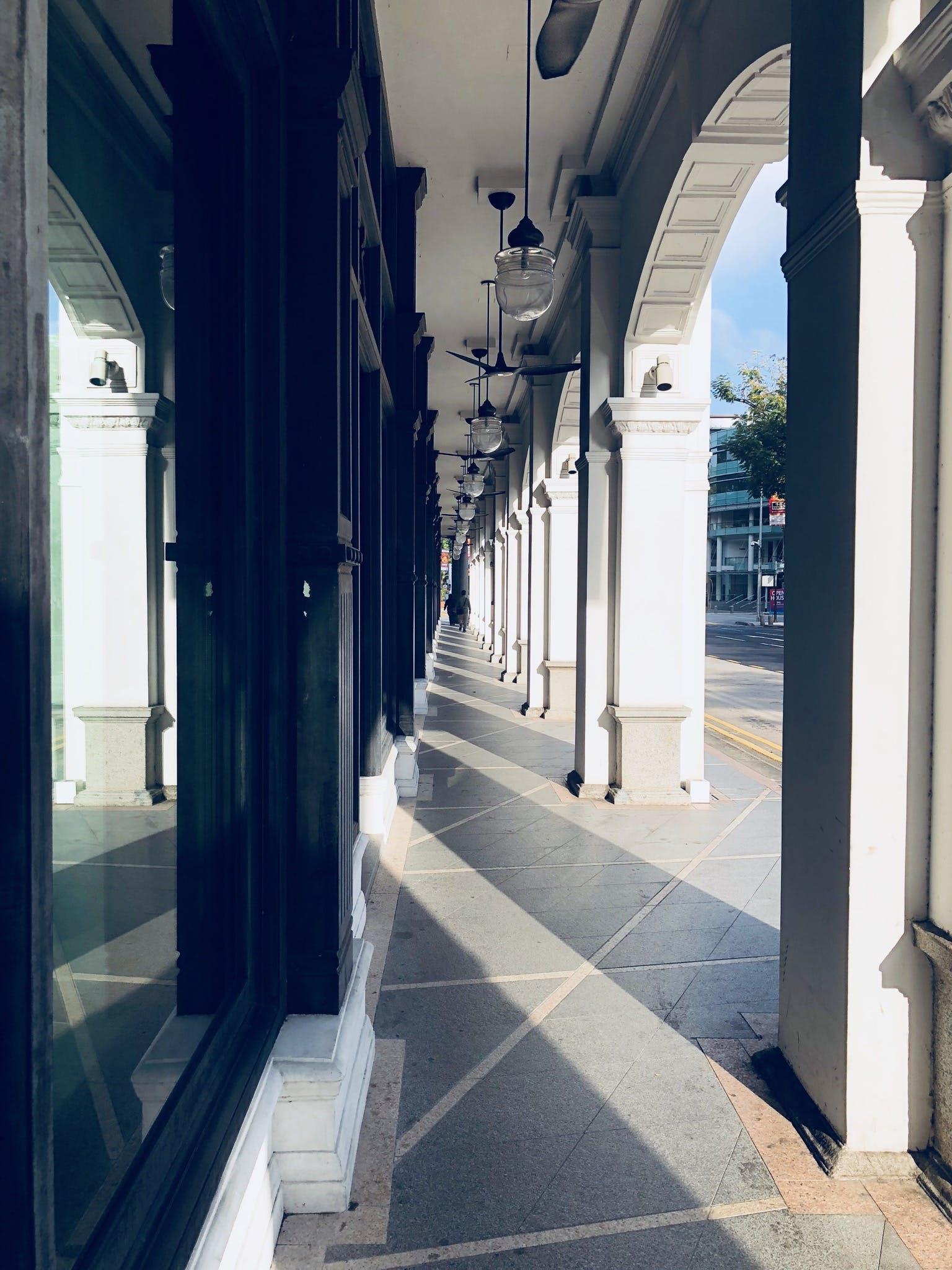 Free stock photo of morning, shadow, sun, walkway