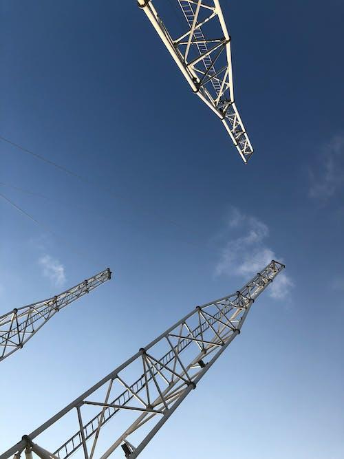 Free stock photo of blue, blue sky, clear sky, steel