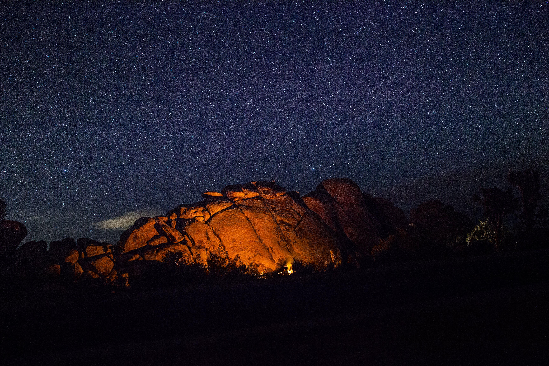 天空, 岩石, 星星, 晚上 的 免費圖庫相片