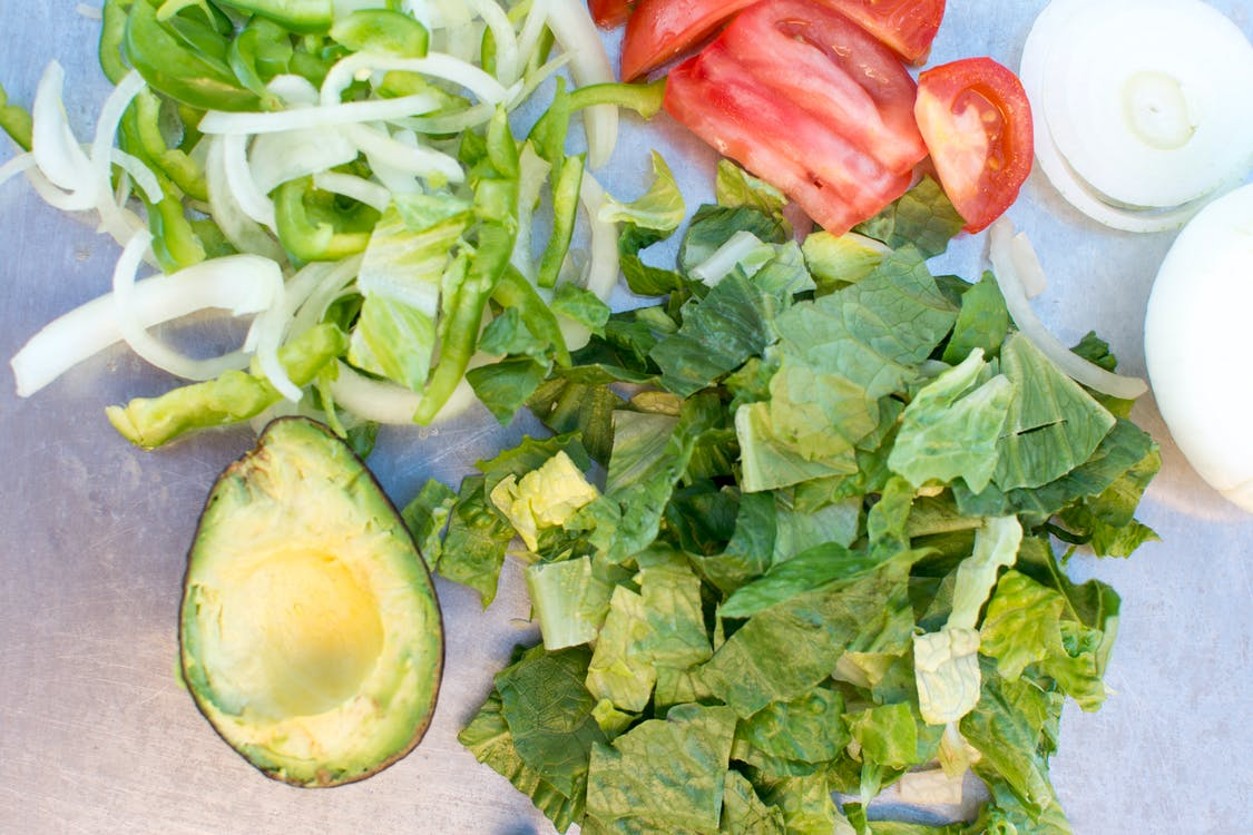 Free stock photo of avocado, lettuce, onions