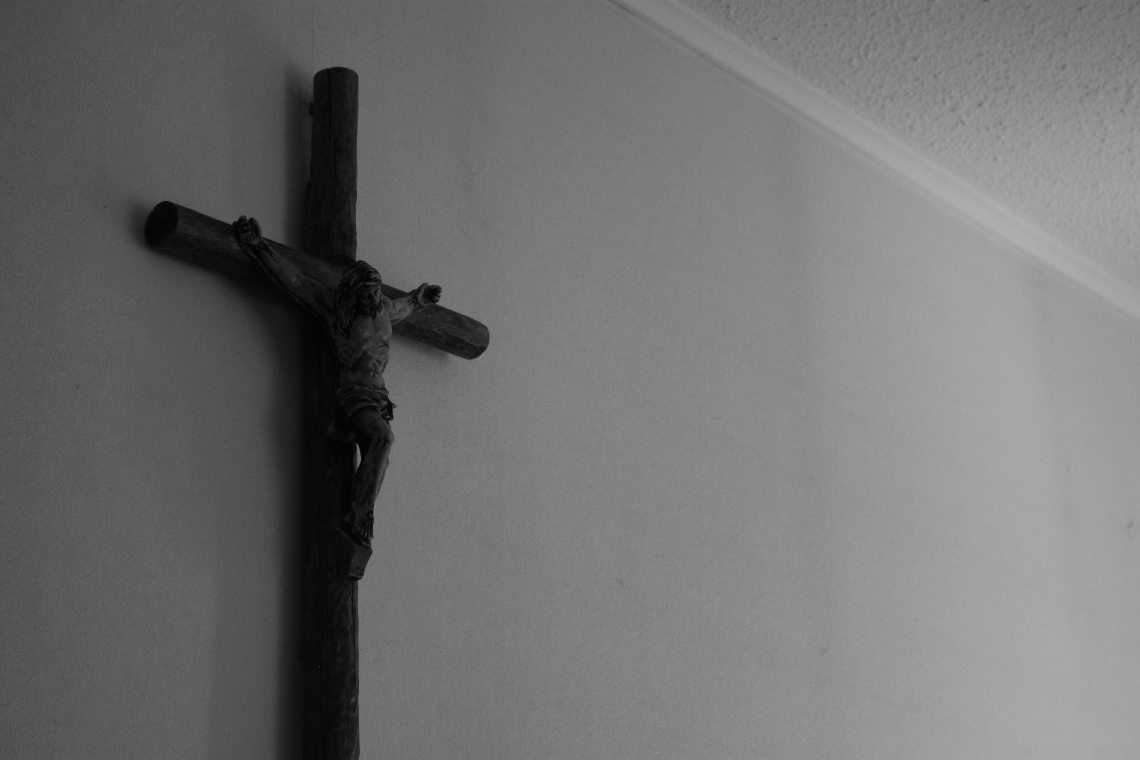 Free stock photo of black-and-white, Christ, crucifix, god