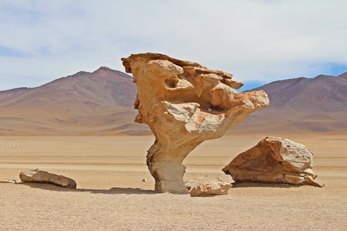 Brown Rock Formation In The Desert