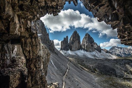 Darmowe zdjęcie z galerii z białe chmury, dolomity, góry