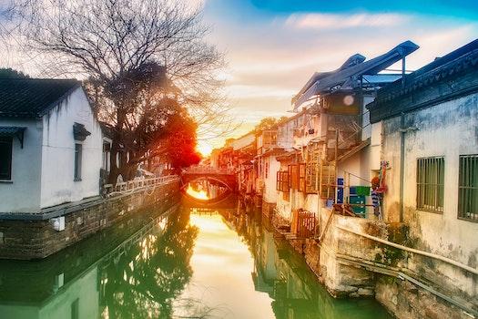 Free stock photo of 阳光, 日落, 风景, 晴朗