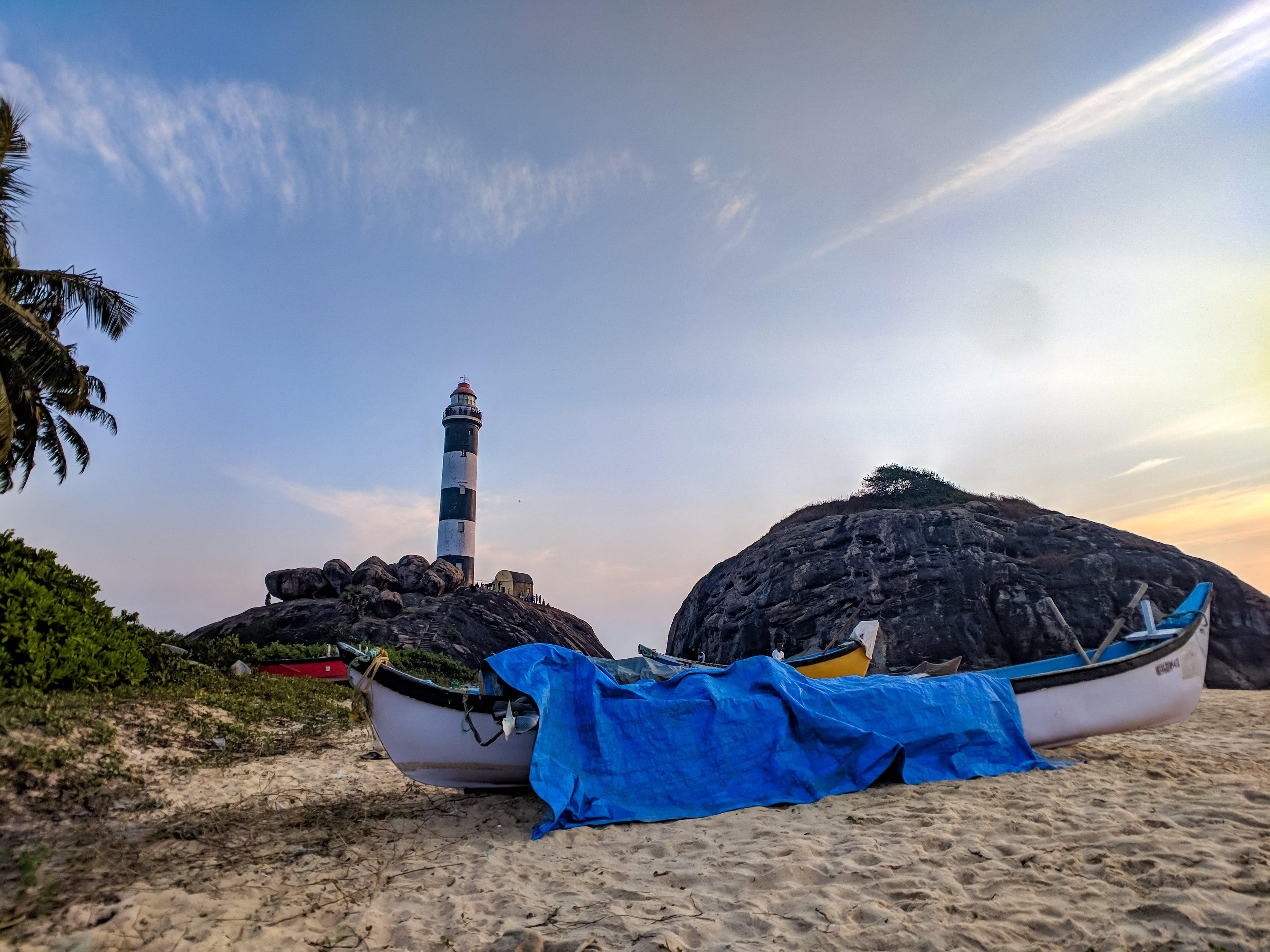 Foto stok gratis alam, awan, bahtera, batu