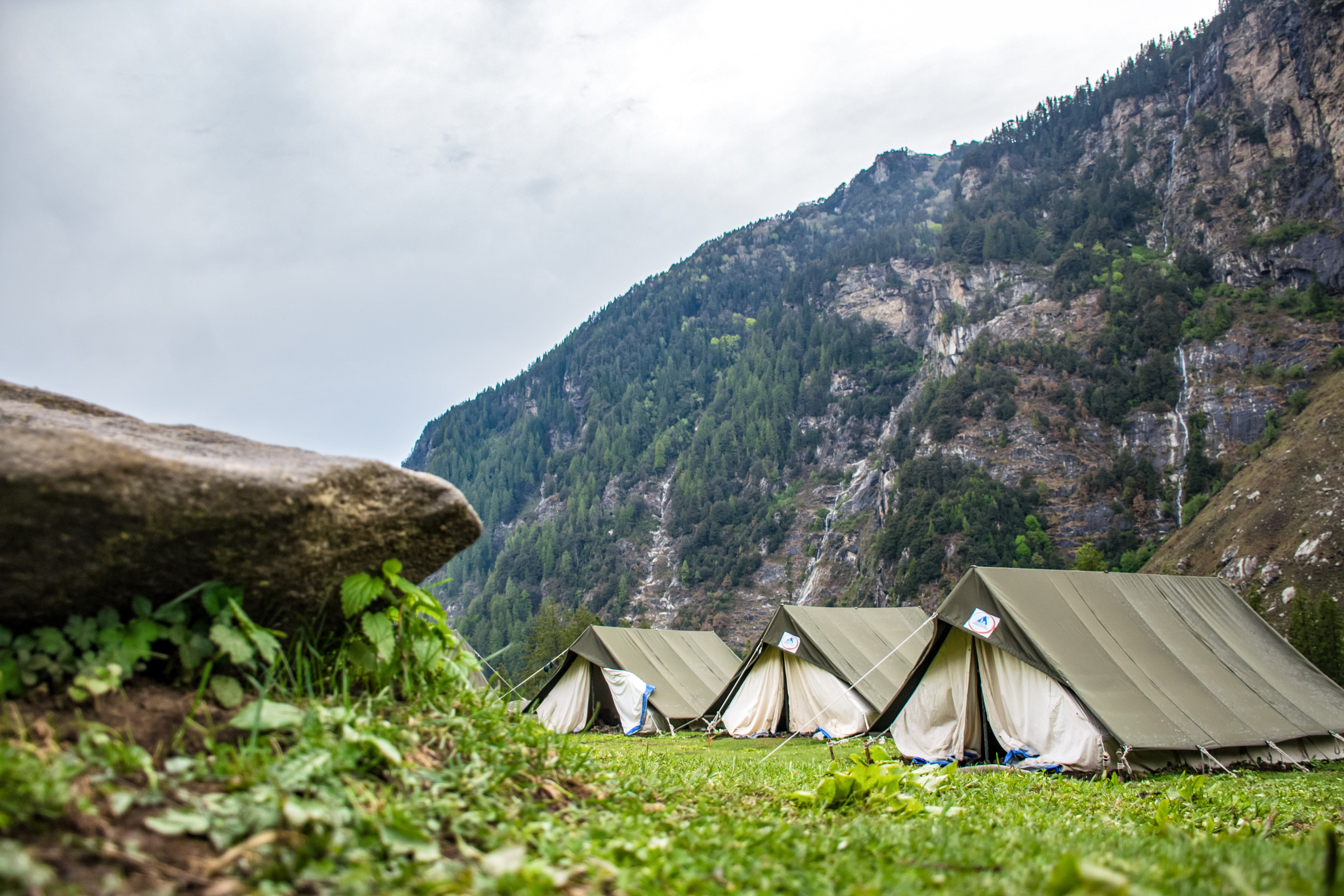 White and Brown Tent Camps