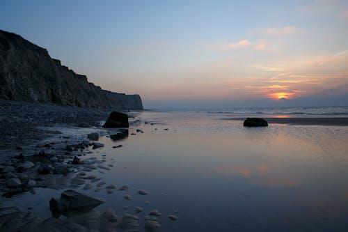 Foto profissional grátis de ã © tã ©, céu, contre-jour, mar