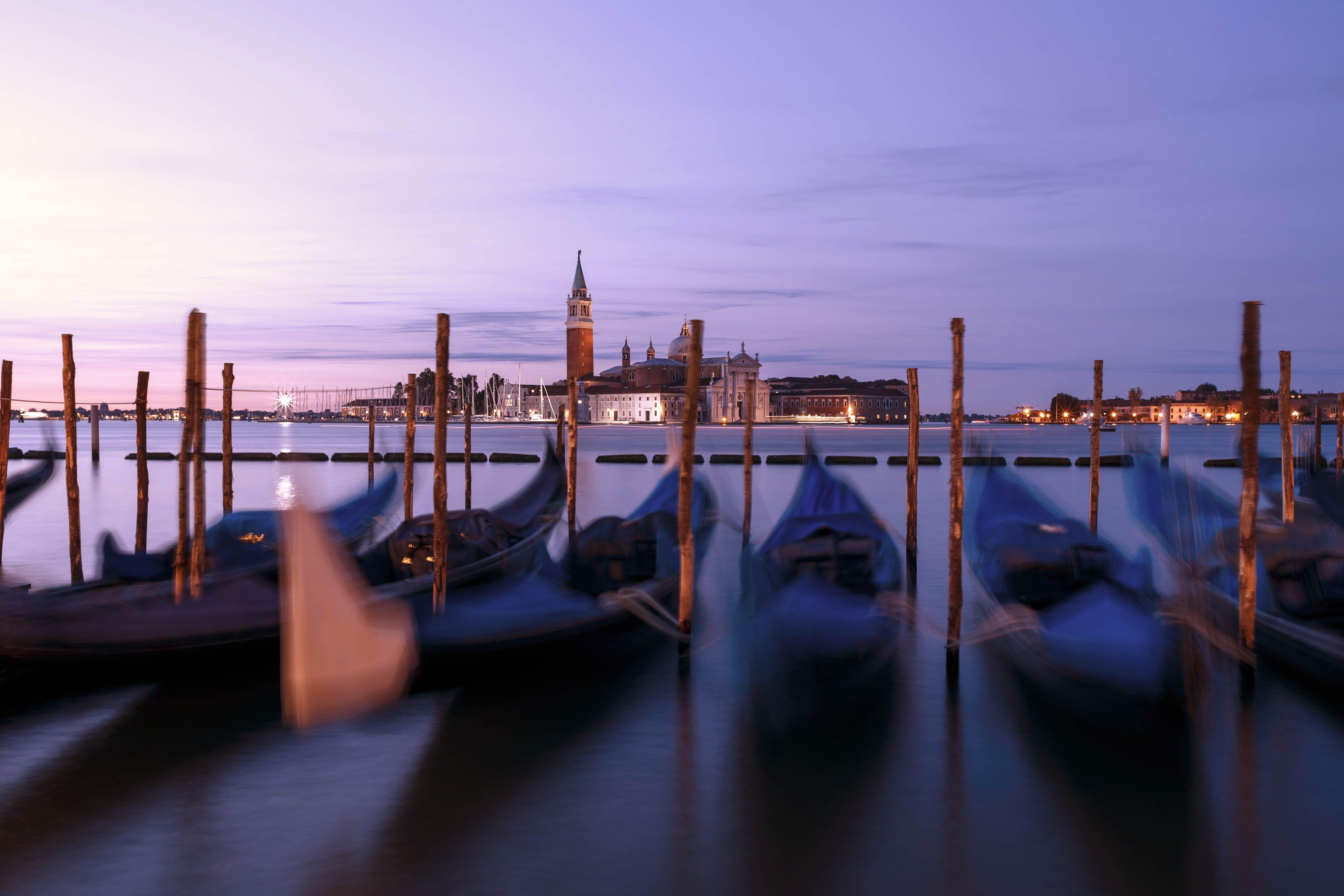 Gondola Boats in Venice Italy