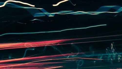 Immagine gratuita di arancia, azzurro, città, lampo di luce