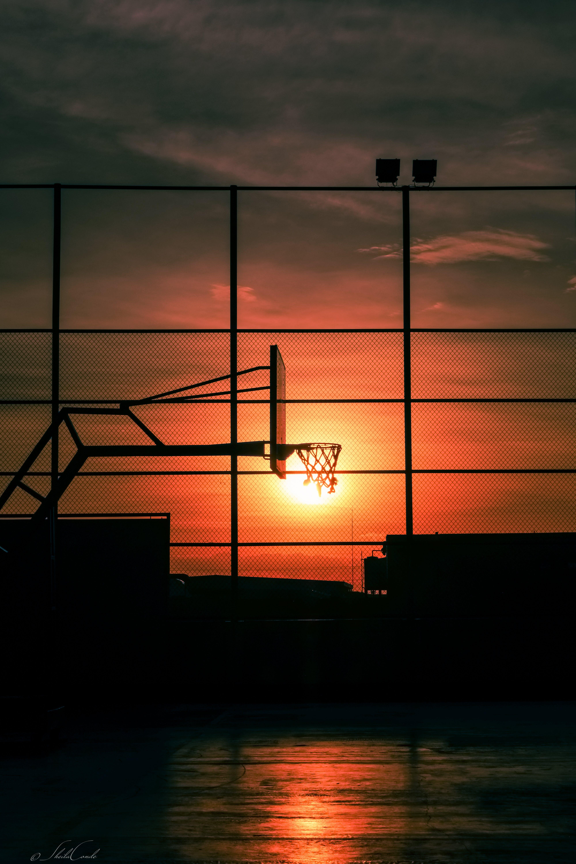 Free stock photo of basketball, dramatic sky, fitness, golden sun