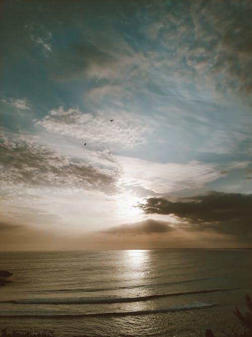 คลังภาพถ่ายฟรี ของ ชายหาด, ดราม่า, ดวงอาทิตย์