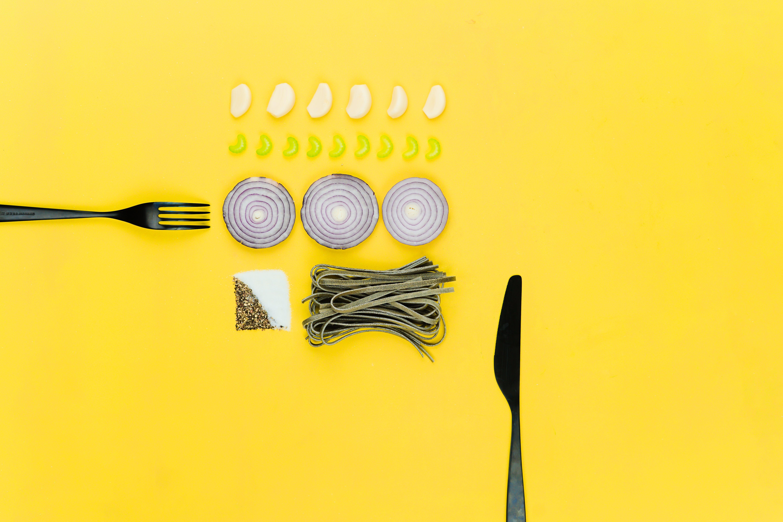 Black Fork and Knife Clip-art