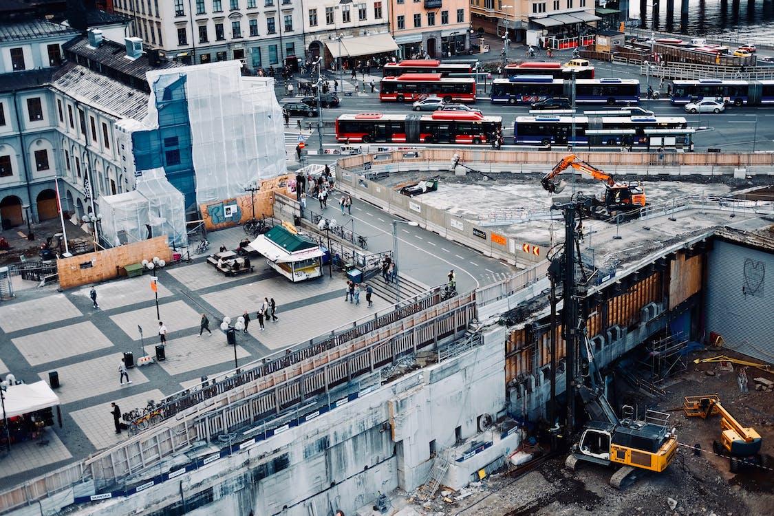거리, 건물, 건설