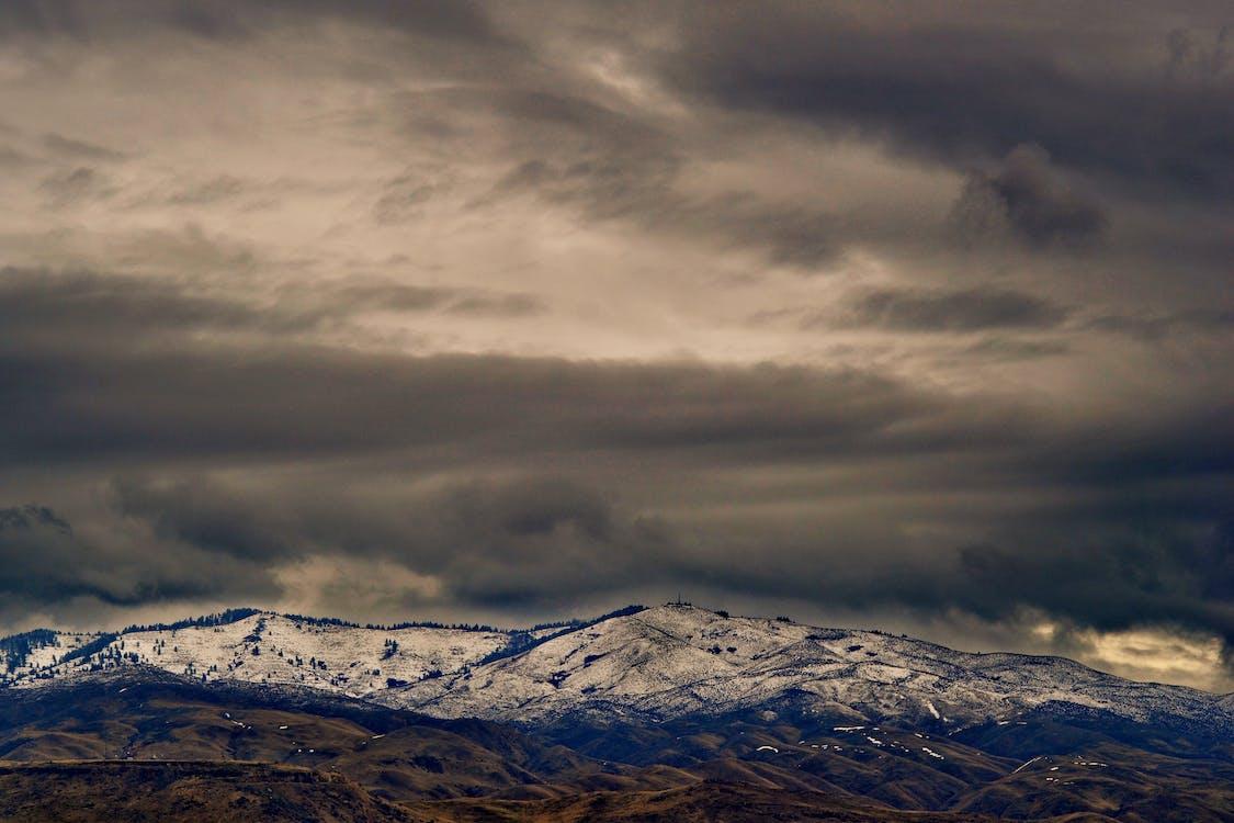 гірський хребет, гори, дерева