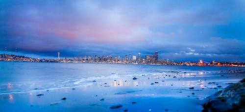 #seattle #seattleskyline #seascape #cityscape, シティ, ビーチ, 夏の無料の写真素材