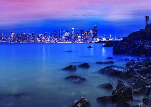 傍晚的天空, 光, 反射, 城市 的 免费素材照片