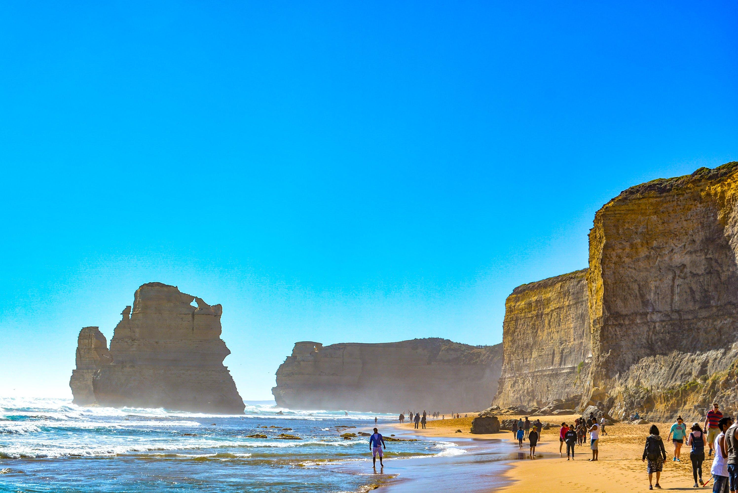 dalga, dalgalar, deniz, gün batımı içeren Ücretsiz stok fotoğraf
