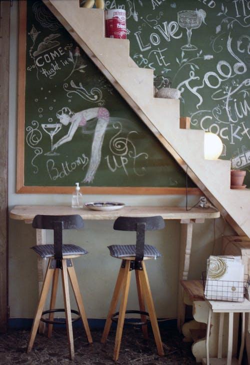 Chalk Drawing in Bar