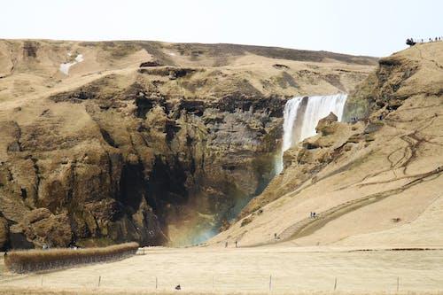 Бесплатное стоковое фото с водопад, гора, исландия, природа