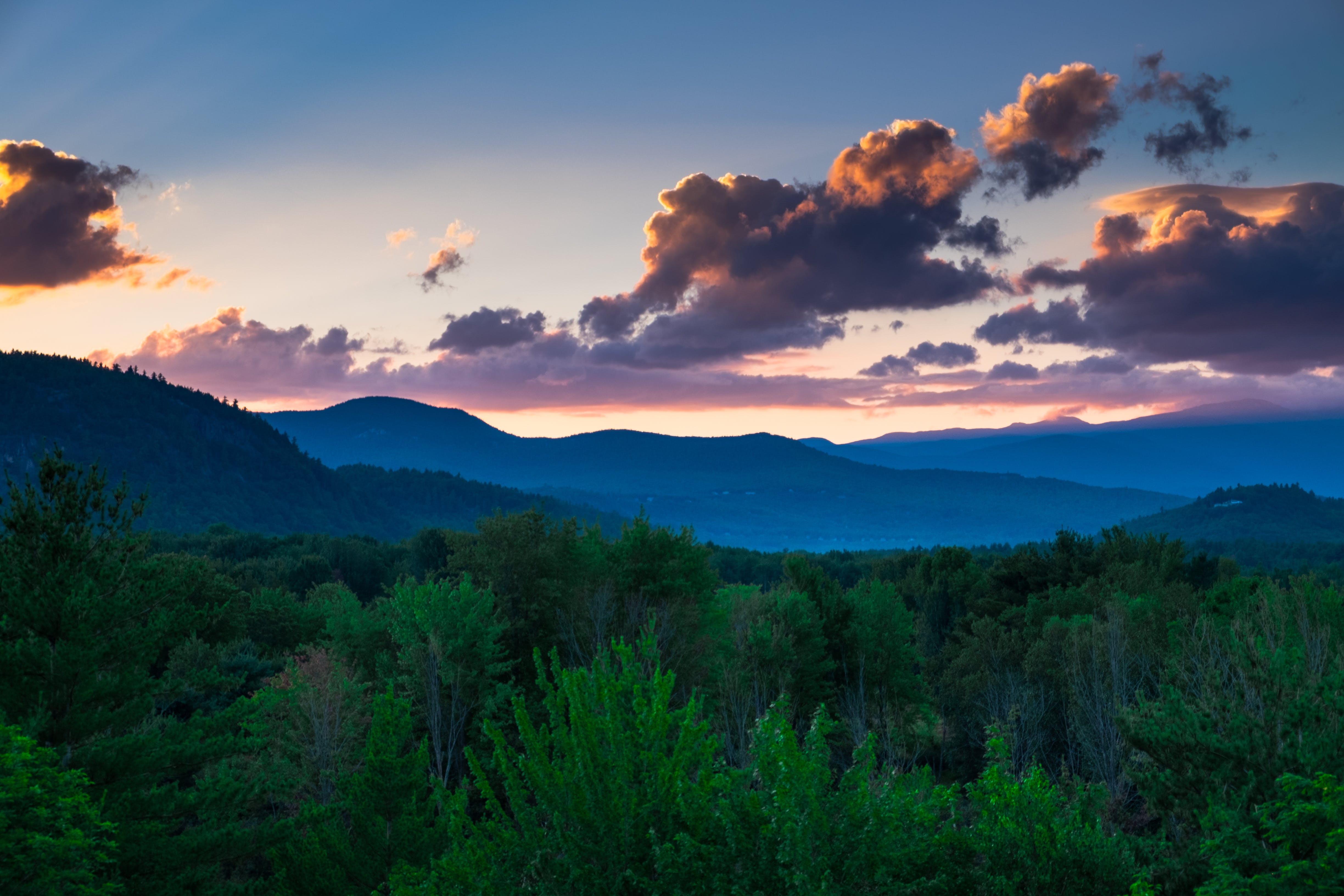 Free stock photo of blue mountains, colour, dramatic sky, evening sky