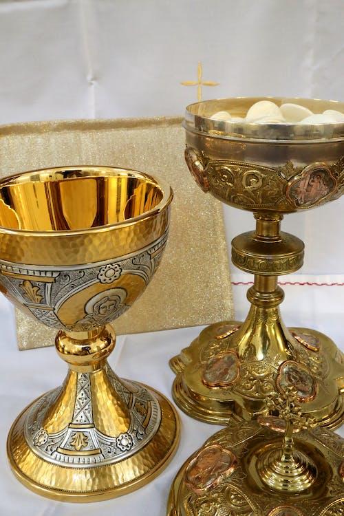 Free stock photo of chalice, communion, cross, cruxifix