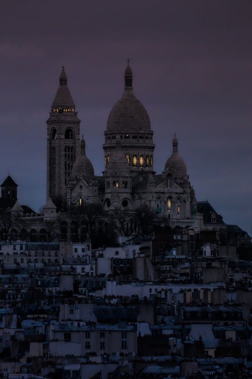 Gratis stockfoto met avondlucht, Basilica of the Sacred Heart of Paris, basiliek, bewolkte lucht