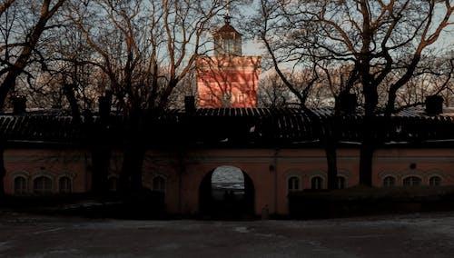 Základová fotografie zdarma na téma architektura, západ slunce, zima