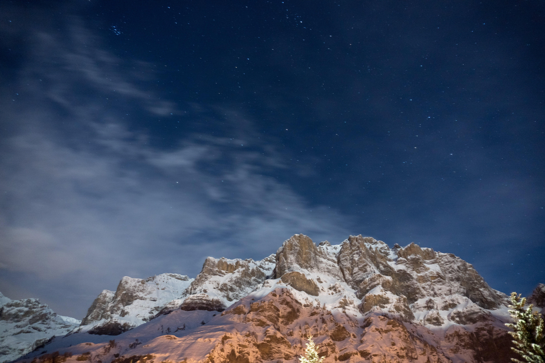 Brown and White Snow Mountain