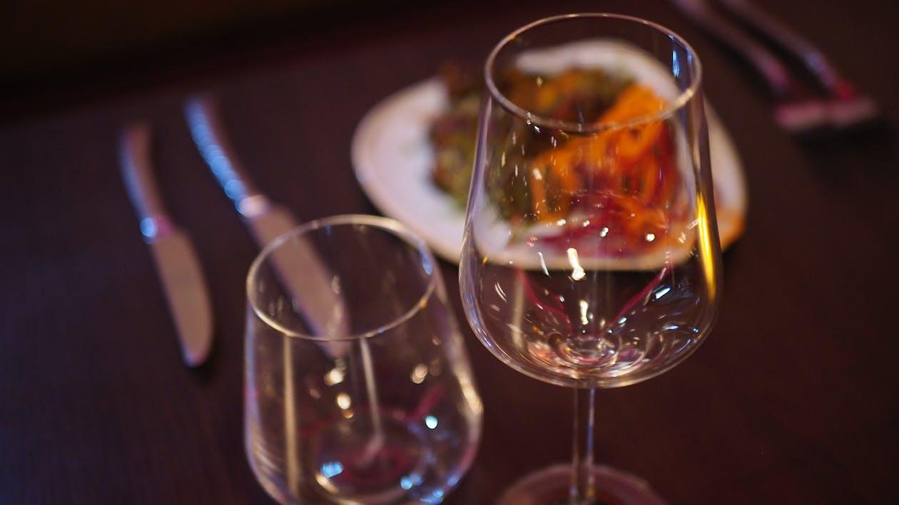Free stock photo of food, wine glasses