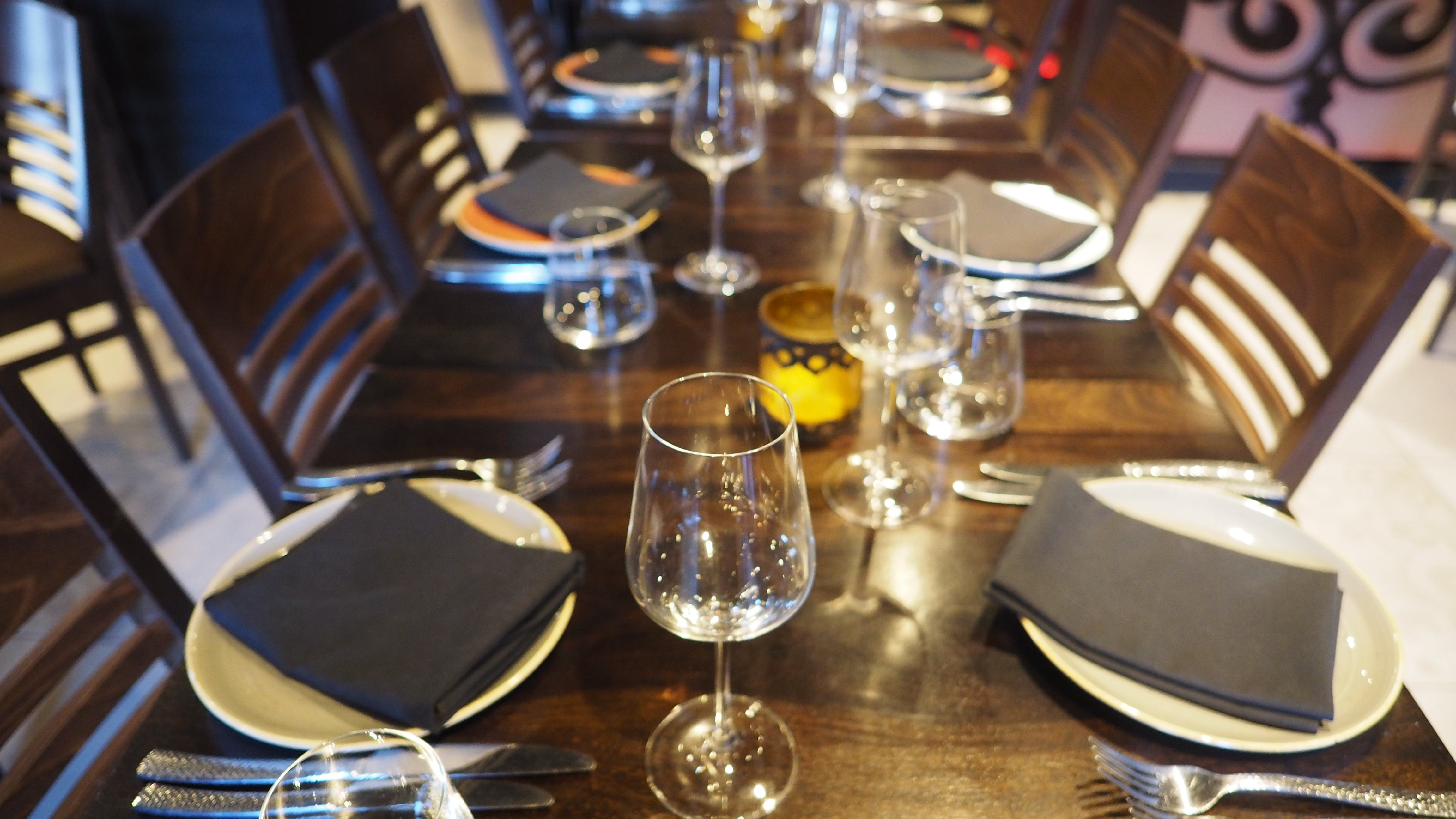 Free stock photo of restaurant, set table, table, wine glas