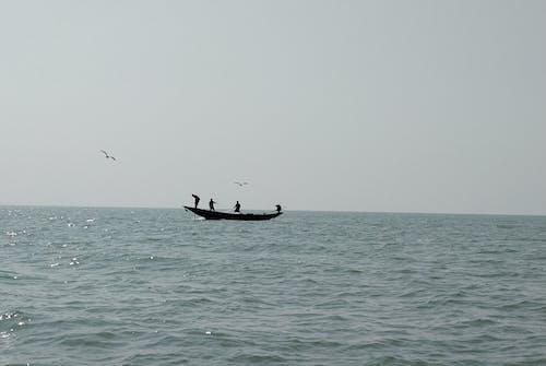 Free stock photo of Fisherman on boat, lakeside