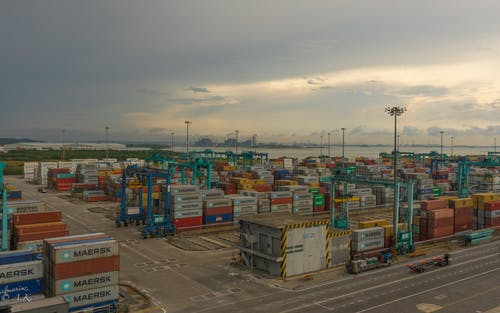 Free stock photo of a container terminal