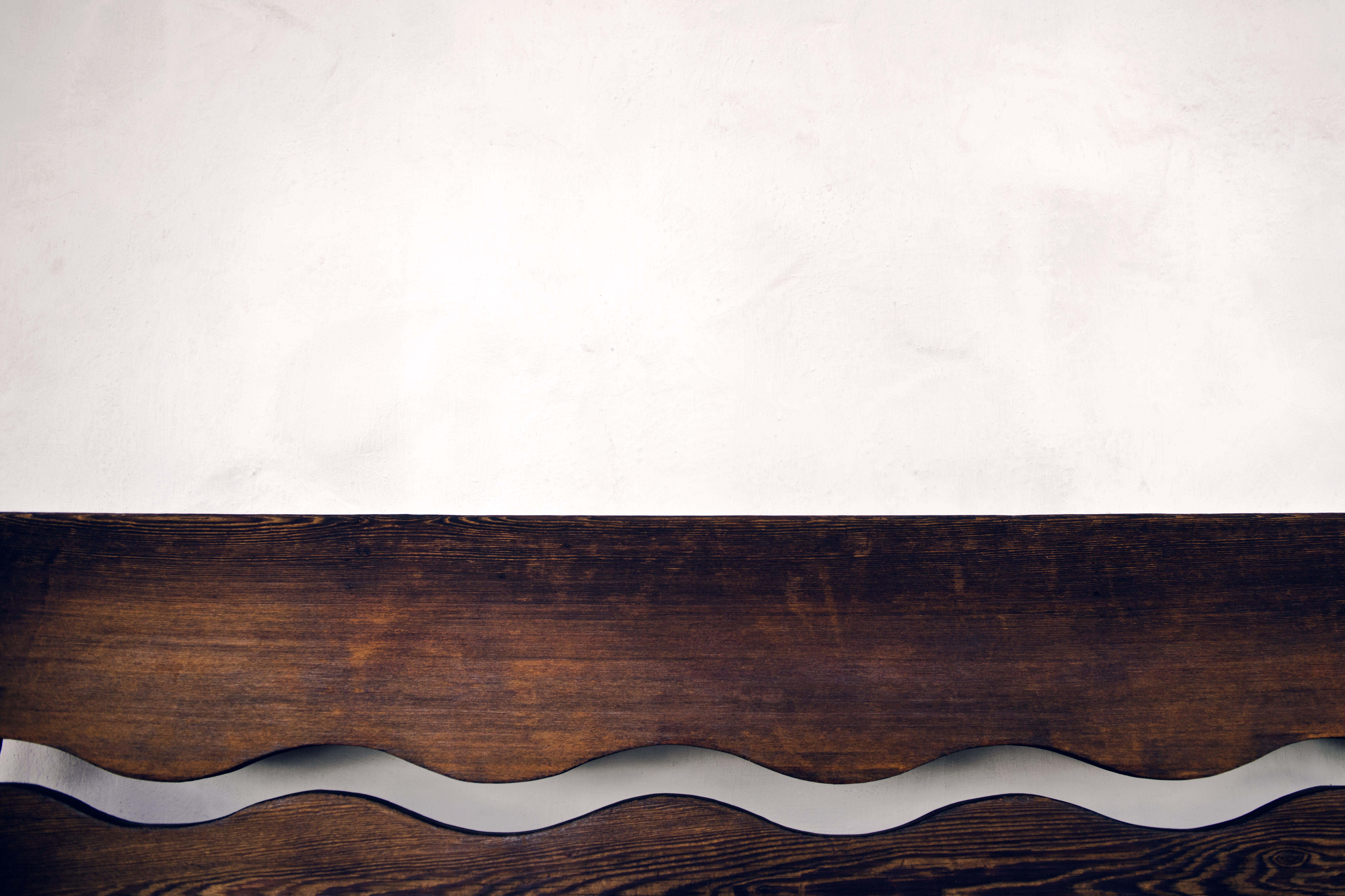 Brown Wooden Wall Shelf